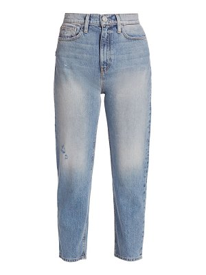 Hudson elly high-rise crop faded jeans