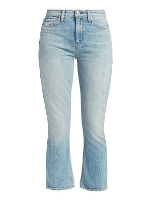Hudson holly high-rise crop bootcut distressed jeans