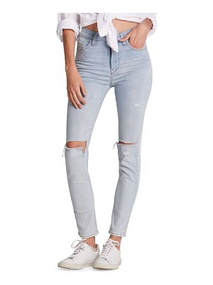 Hudson holly high-rise distressed skinny ankle jeans