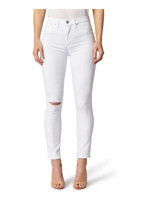 Hudson holly high waist ripped ankle skinny jeans
