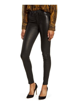 Hudson hudson barbara high waist super skinny leather pants