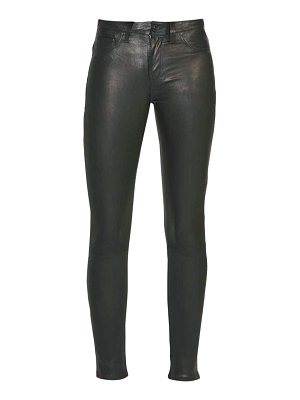 Hudson nico mid-rise super skinny leather pants