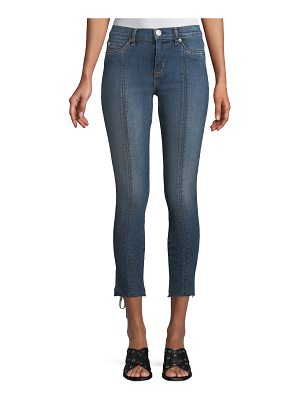 Hudson Nico Super Skinny Lace-Up Cropped Jeans