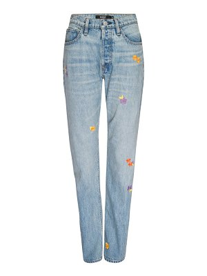 Hudson thalia extreme loose-fit floral jeans