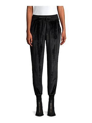 Hudson velvet racing stripe track pants