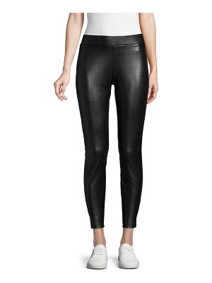 Hue Faux Leather Cropped Leggings
