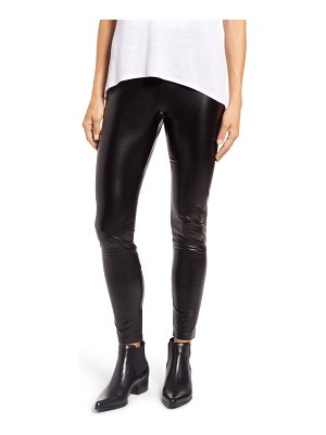 Hue faux leather high waist leggings
