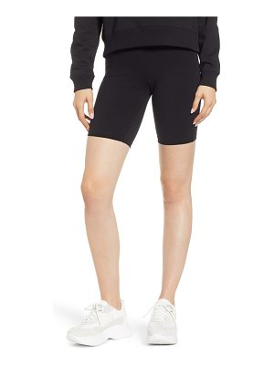 Hue high waist cotton blend bike shorts