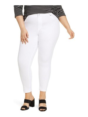 Hue high waist ultrasoft denim skimmer pants