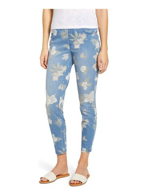 Hue tropical orchid denim skimmer leggings