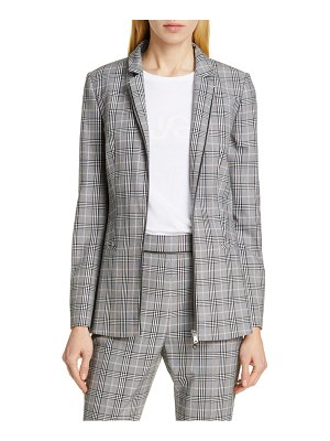 HUGO alevia plaid blazer