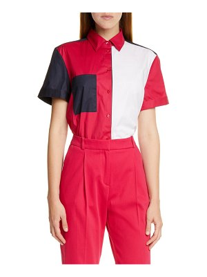 HUGO efisia colorblock shirt