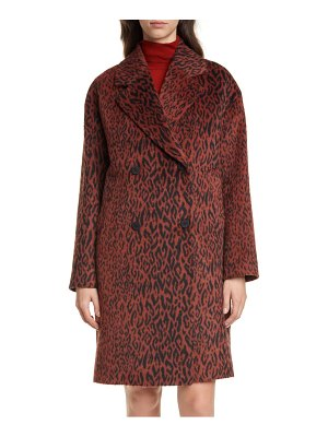 HUGO marca animal print faux fur coat