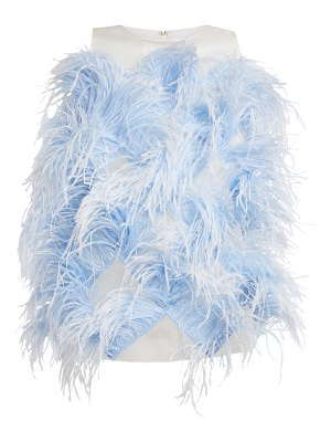 HUISHAN ZHANG Sleeveless Top With Feathers