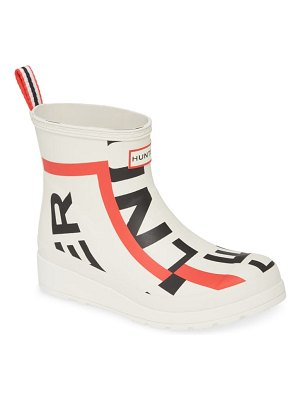 Hunter original exploded logo short rain boot