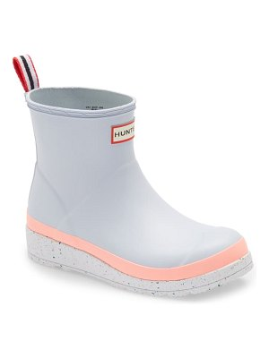 Hunter original play speckled platform waterproof rain boot