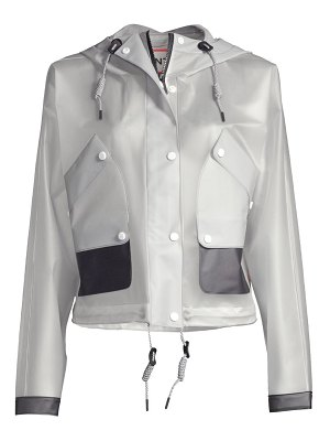 Hunter orignal vinyl waterproof cropped rain jacket