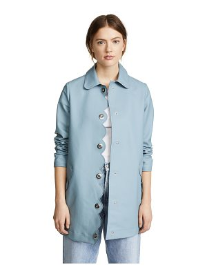 Hunter perforated a-line coat