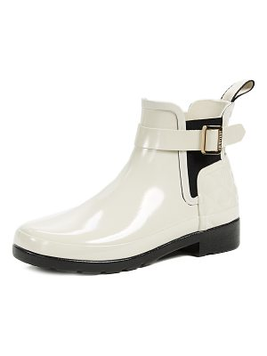 Hunter refined gloss quilt chelsea boots