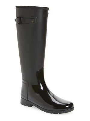 Hunter refined tall matte gloss waterproof rain boot