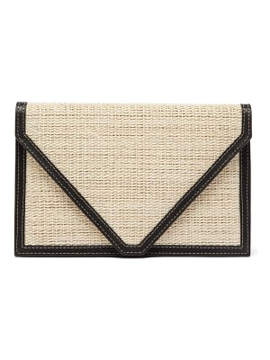 Hunting Season envelope leather-trimmed canvas clutch