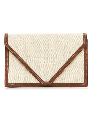 Hunting Season leather-trimmed canvas clutch