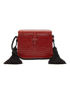Hunting Season square trunk mini lizard-skin cross-body bag