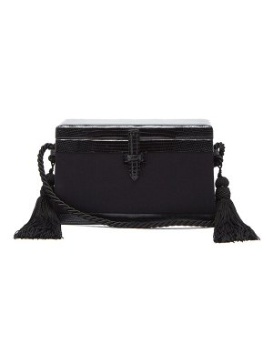 Hunting Season square trunk satin and lizard cross-body bag