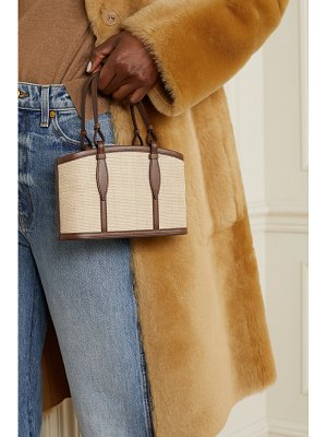 Hunting Season the basket small leather-trimmed woven fique tote