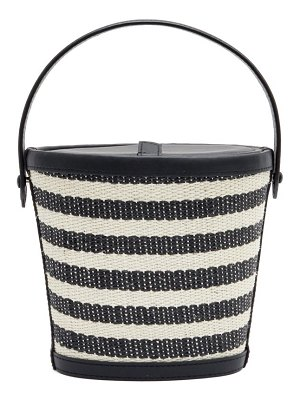 Hunting Season the bucket striped-rattan and leather bag