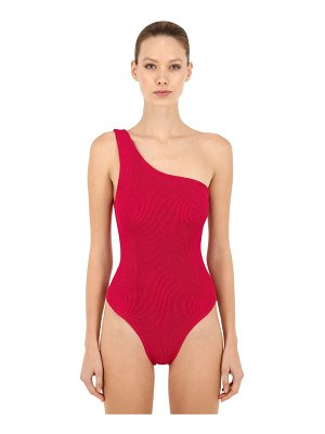 Hunza G One shoulder one piece swimsuit