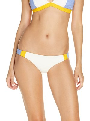 Hurley ribbed colorblock mod surf bikini bottoms