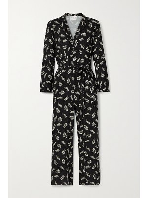HVN gia printed voile jumpsuit