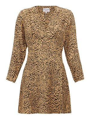 HVN hoover tiger-print silk-crepe mini dress