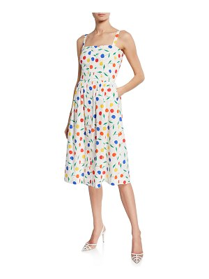 HVN Laura Rainbow Cherry Cotton Dress