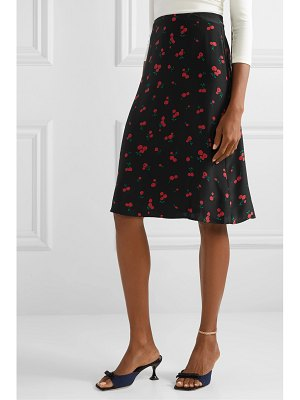 HVN wiona printed silk crepe de chine skirt