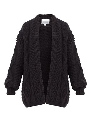 I Love Mr Mittens open placket bobble and cabled wool cardigan