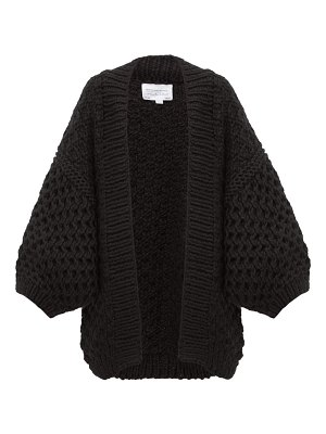 I Love Mr Mittens oversized honeycomb knit wool cardigan