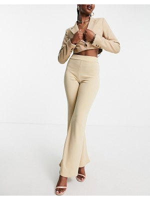 I Saw It First flare pant in stone-neutral