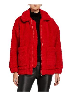 I.AM.GIA Pixie Zip-Front Sherpa Coat