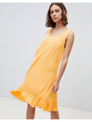 Ichi drop waist tank dress-yellow