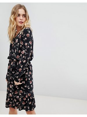 Ichi frill hem floral dress-multi