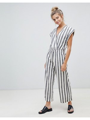 Ichi stripe jumpsuit-multi