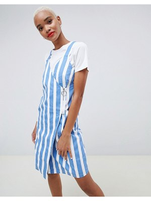 Ichi stripe wrap dress with zip fastening-multi
