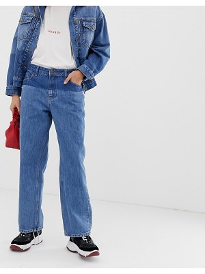 Iden Denim virginia boyfriend jean with shadow detail two-piece with organic and recycled cotton