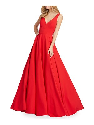 IEENA FOR MAC DUGGAL V-Neck Empire Ball Gown