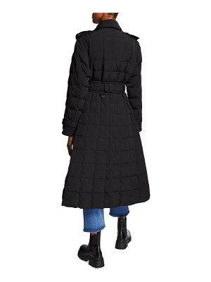 Ienki Ienki Double-Breasted Box-Quilt Trench Coat