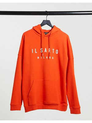 Il Sarto oversized hoodie in off red