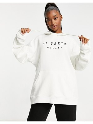 Il Sarto oversized hoodie in off white