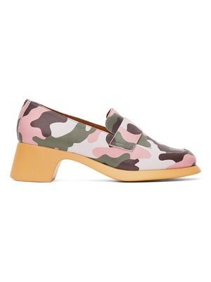 I'm Sorry by Petra Collins green & pink camper edition camo loafers
